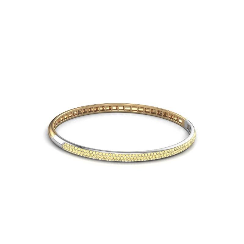 Slavenarmband Emely 4mm 585 goud gele saffier 1.1 mm