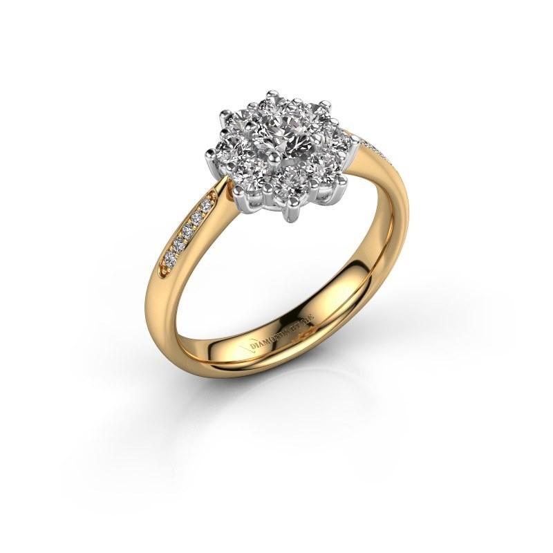 Verlovingsring Carolyn 2 585 goud lab-grown diamant 0.15 crt