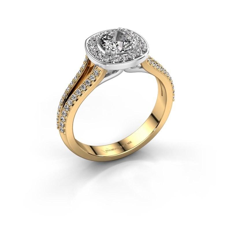 Engagement ring Carolina 2 585 gold zirconia 5 mm