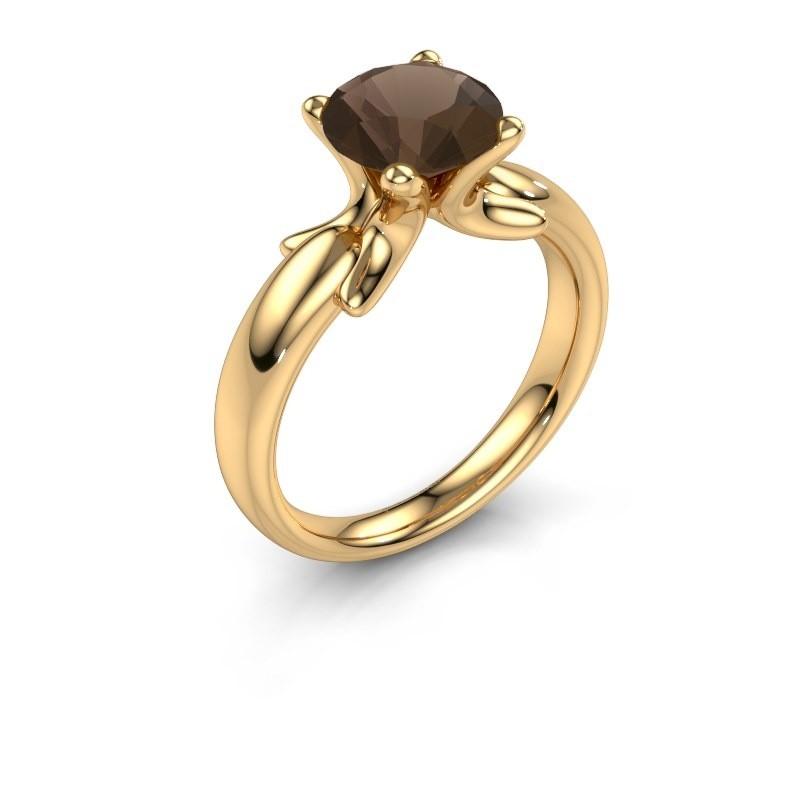 Ring Jodie 585 goud rookkwarts 8 mm