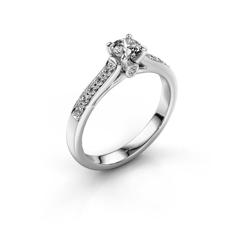 Bague de fiançailles Valorie 2 950 platine diamant synthétique 0.40 crt