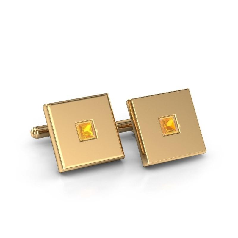 Cufflinks Givanti 585 gold citrin 4 mm