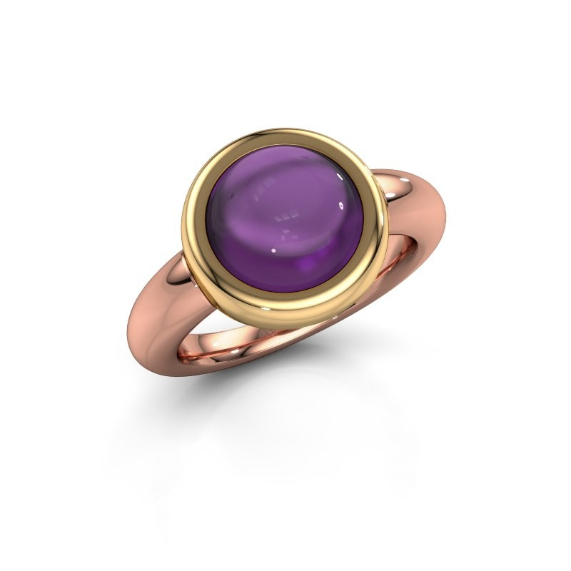 Ring Jenae 585 rose gold amethyst 10 mm