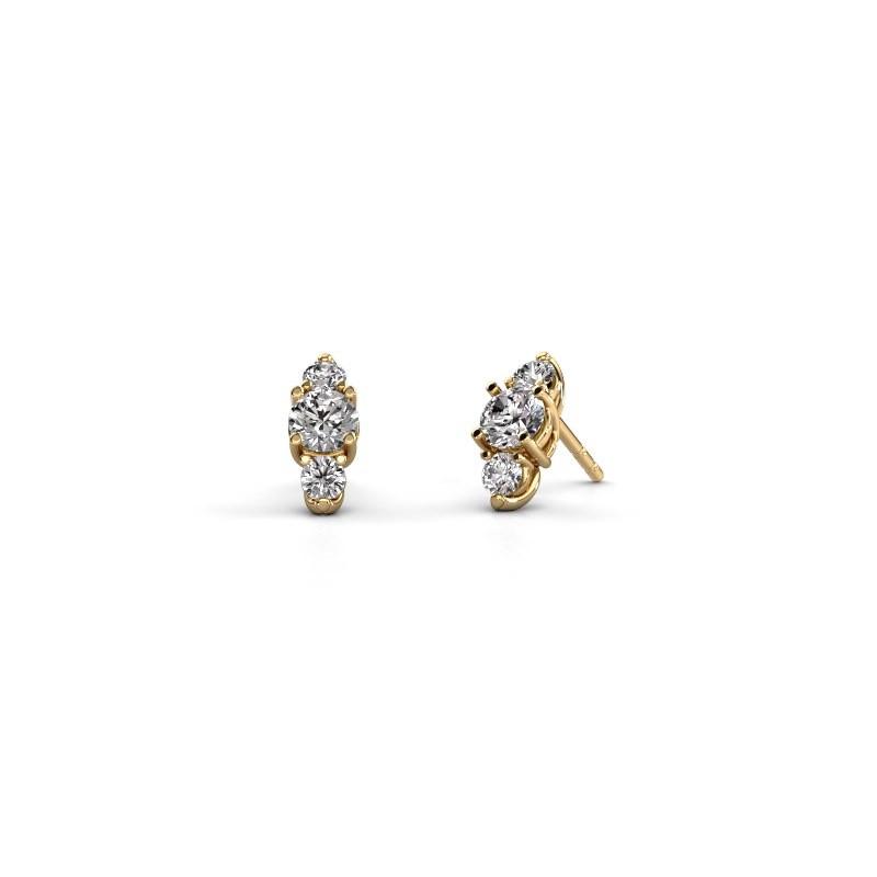 Oorbellen Amie 375 goud diamant 1.40 crt