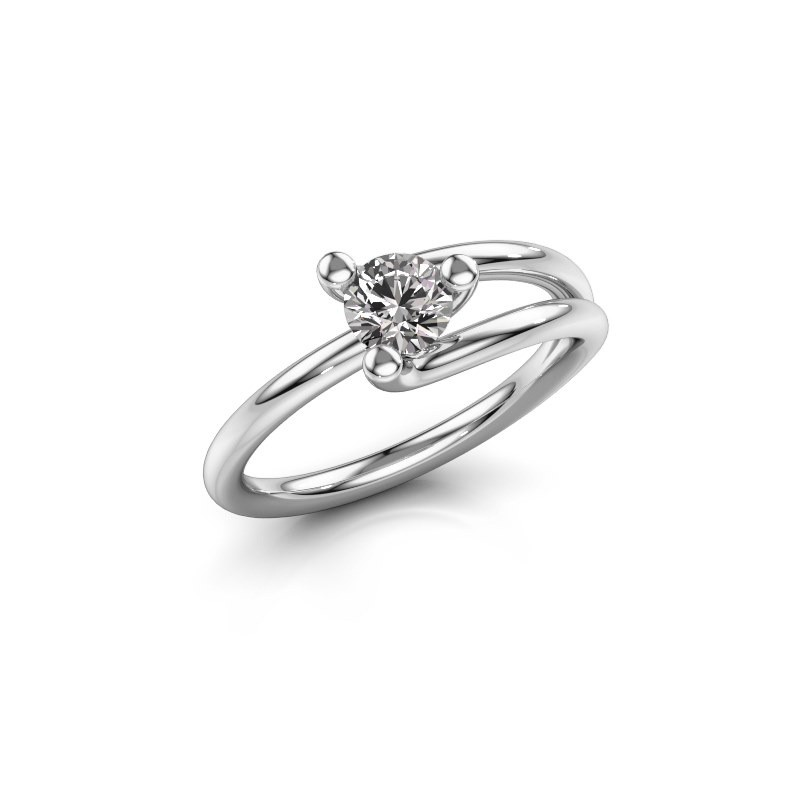 Ring Roosmarijn 585 Weißgold Diamant 0.40 crt