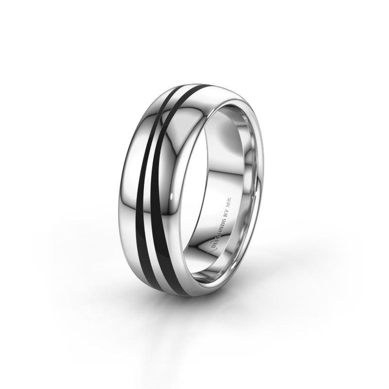 Huwelijksring WH2226M36BP 925 zilver ±7x2 mm
