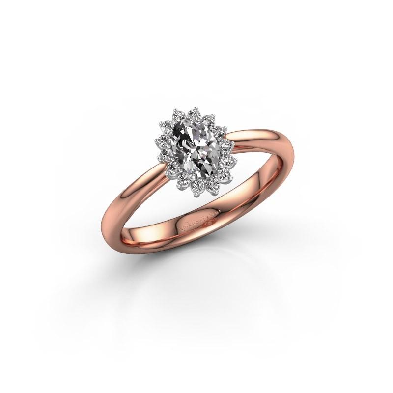 Verlovingsring Tilly 1 585 rosé goud diamant 0.50 crt