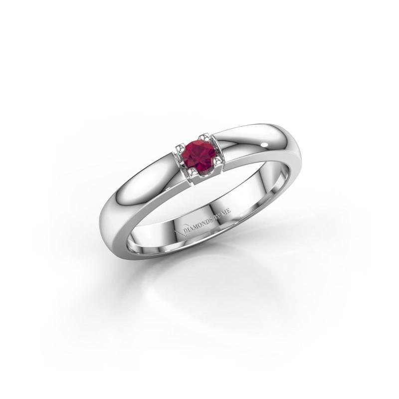 Engagement ring Rianne 1 585 white gold rhodolite 3 mm