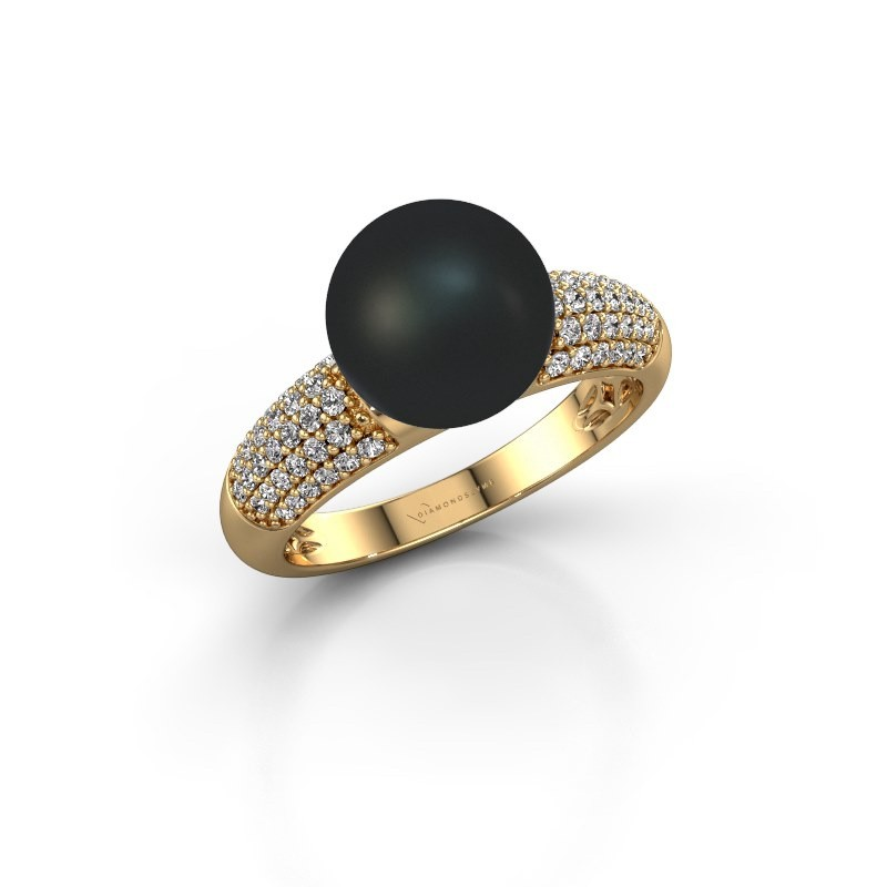 Ring Anisa 585 gold black pearl 9 mm