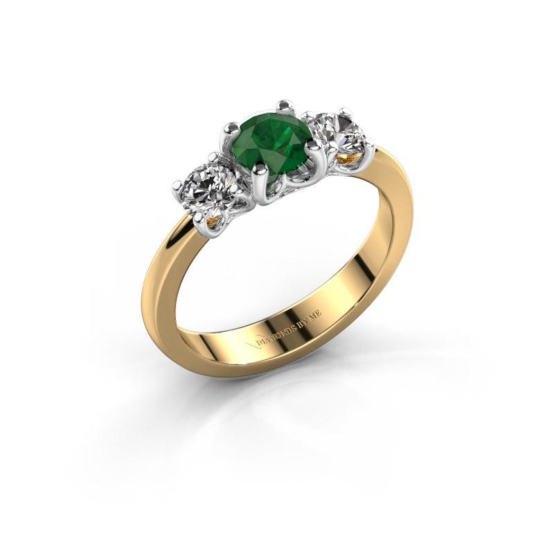 Verlobungsring Detra 585 Gold Smaragd 5 mm