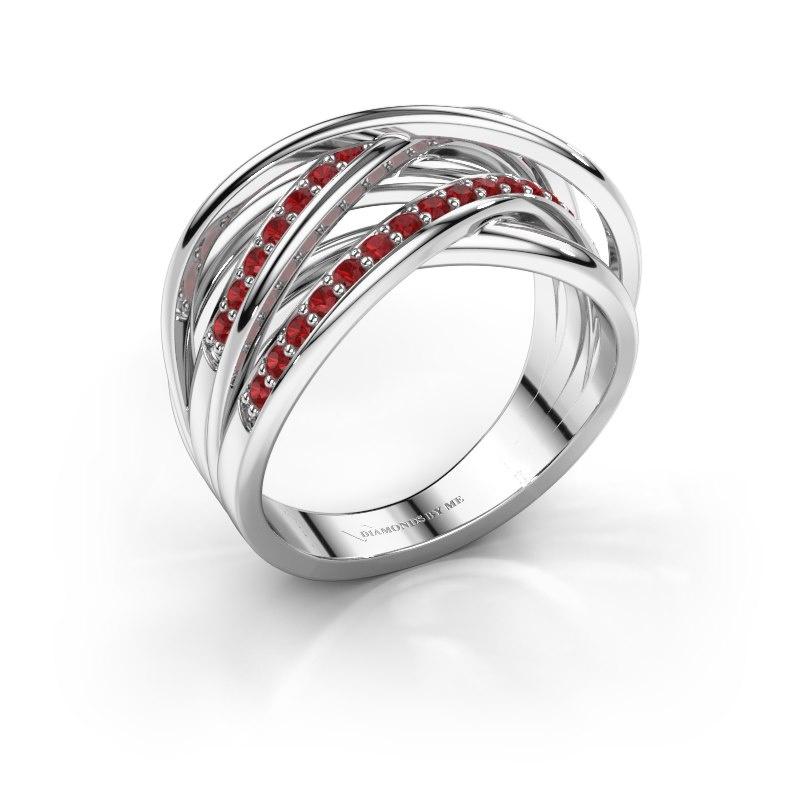 Ring Fem 2 585 Weißgold Rubin 1.5 mm