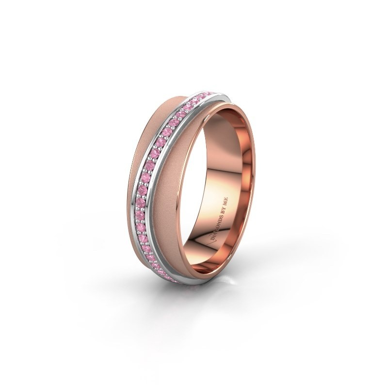 Bague de mariage WH2126L 585 or rose saphir rose ±6x1.7 mm
