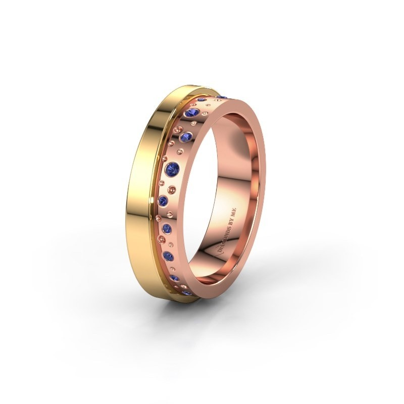 Wedding ring WH6016L15E 585 rose gold sapphire ±0.20x0.1in