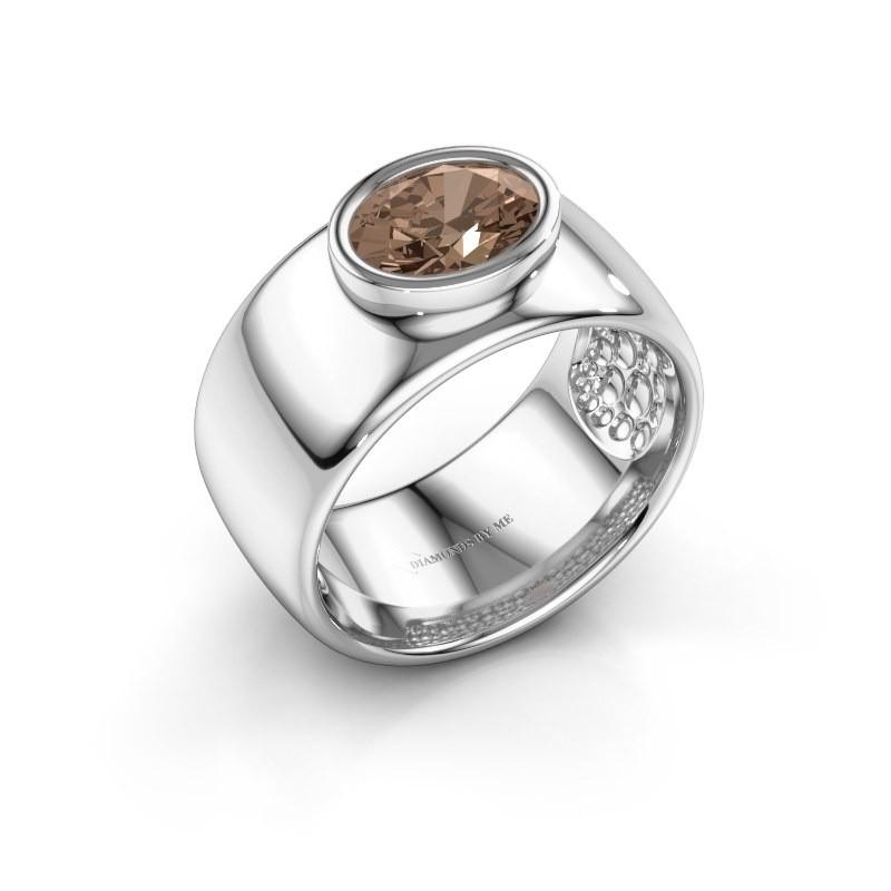 Ring Anouschka 925 silver brown diamond 1.15 crt