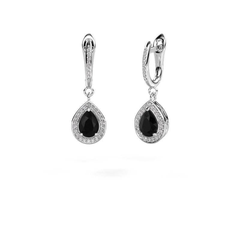 Pendants d'oreilles Ginger 2 950 platine diamant noir 1.715 crt
