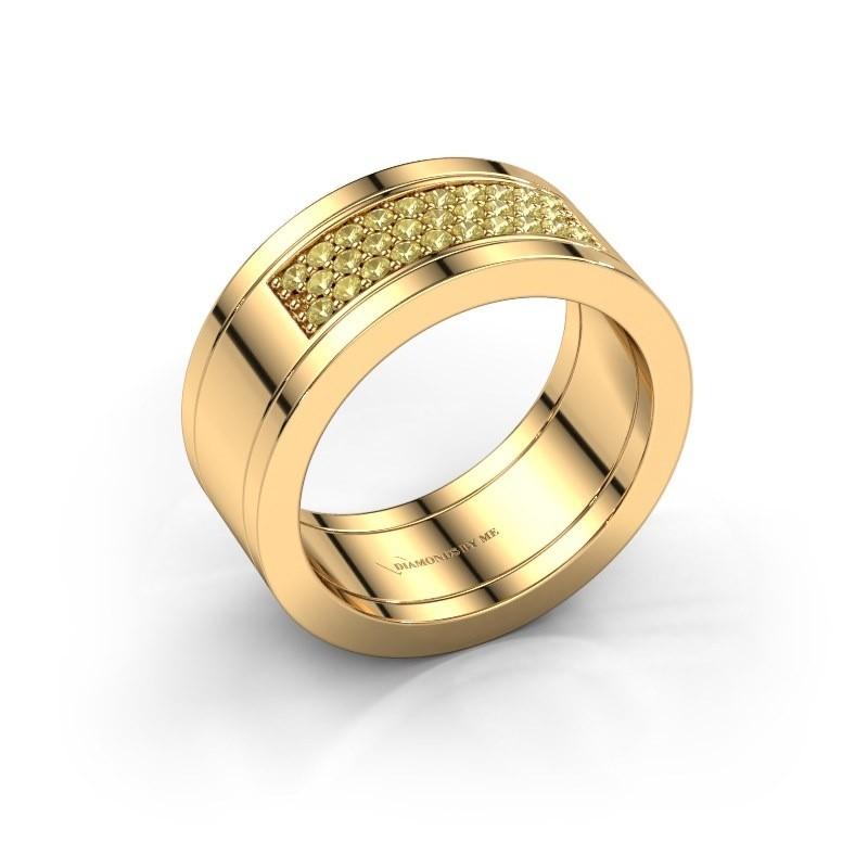 Ring Marita 3 585 gold yellow sapphire 1.3 mm