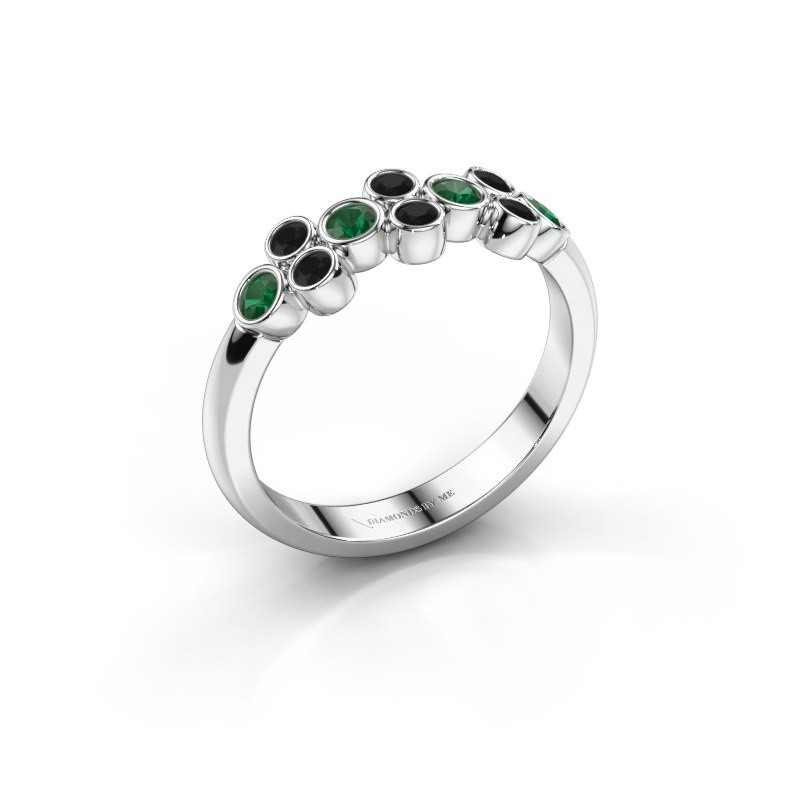 Ring Kayleigh 925 silver emerald 2.4 mm