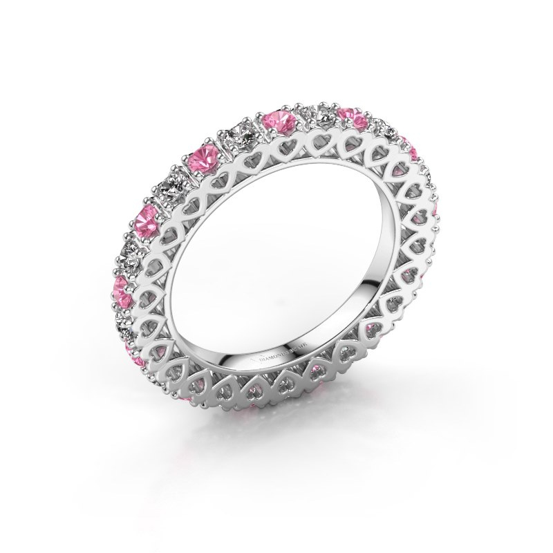 Stackable ring Hailey 925 silver pink sapphire 2.2 mm