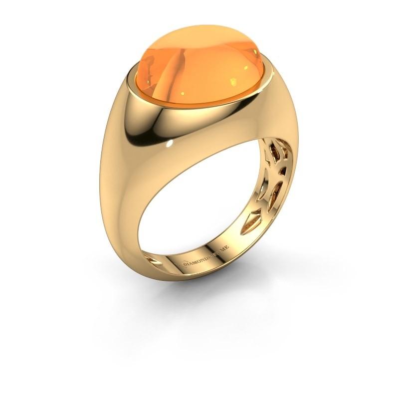 Ring Laurien 585 goud citrien 12x10 mm