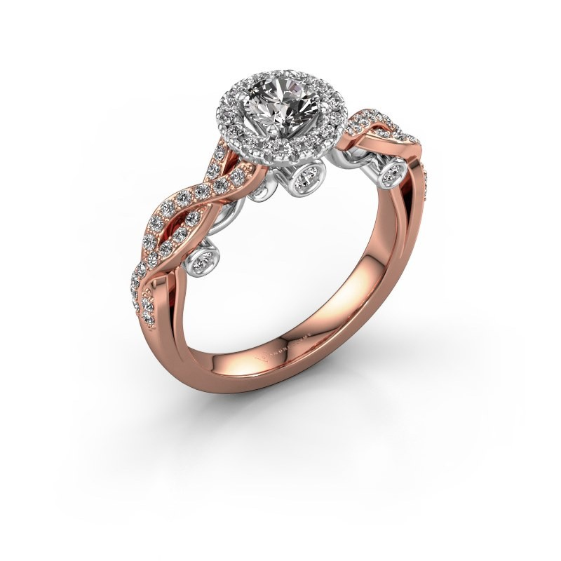 Verlobungsring Madeleine 585 Roségold Diamant 0.872 crt