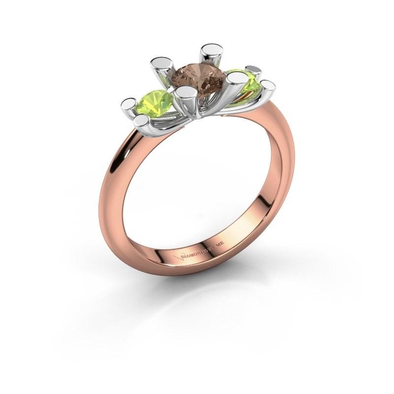 Bague Mirthe 585 or rose diamant brun 0.50 crt
