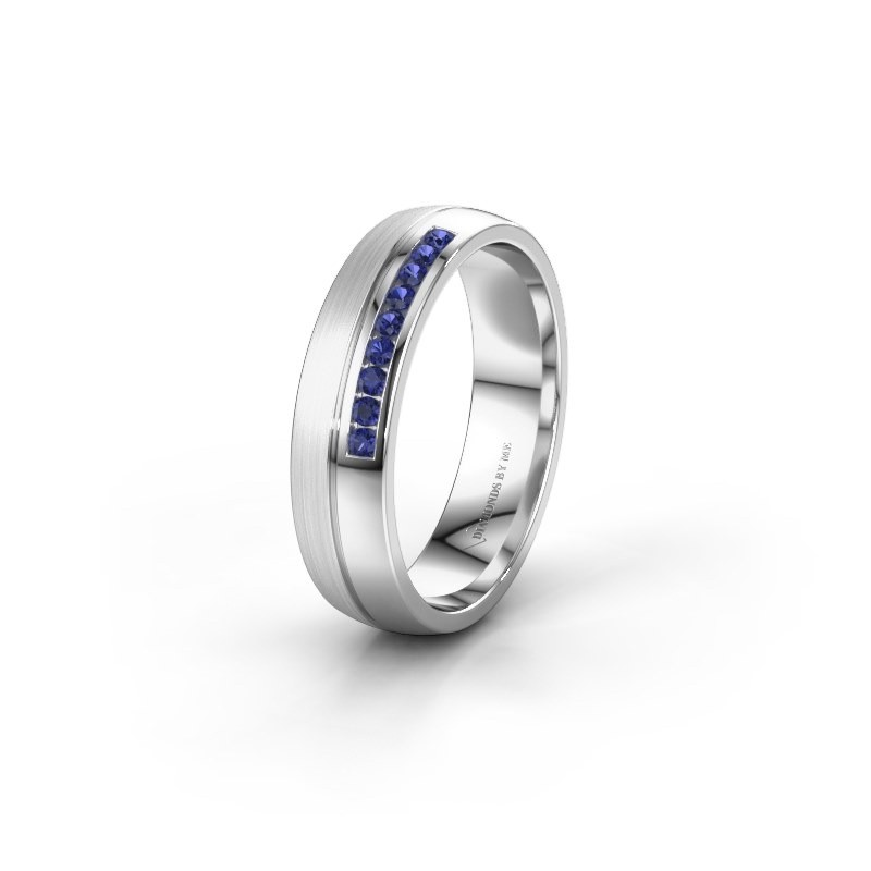 Wedding ring WH0209L25APM 585 white gold sapphire ±0.20x0.07 in
