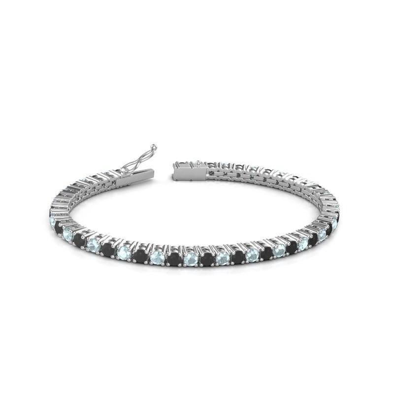 Tennisarmband Jenny 585 witgoud zwarte diamant 5.184 crt