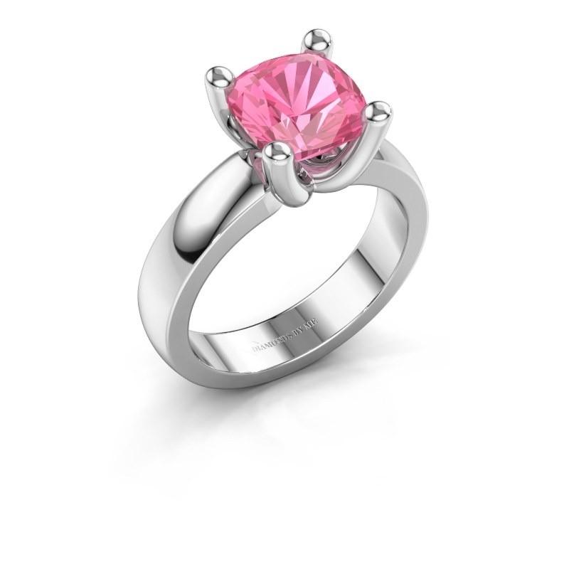 Ring Clelia CUS 950 platina roze saffier 8 mm