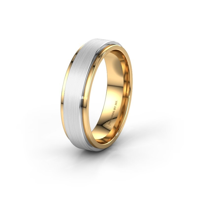 Wedding ring WH2134M 585 gold ±6x2.2 mm