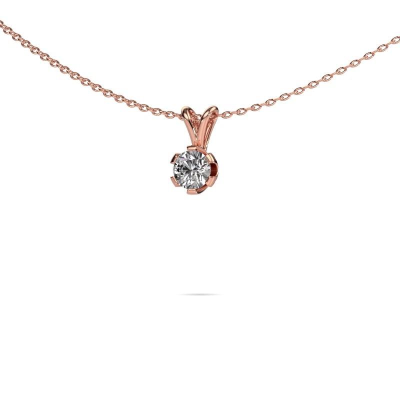 Ketting Julia 375 rosé goud diamant 0.25 crt