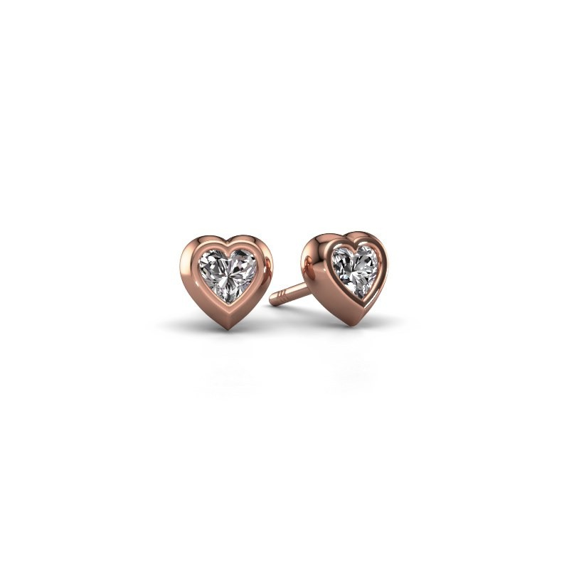 Ohrsteckers Charlotte 375 Roségold Lab-grown Diamant 0.50 crt