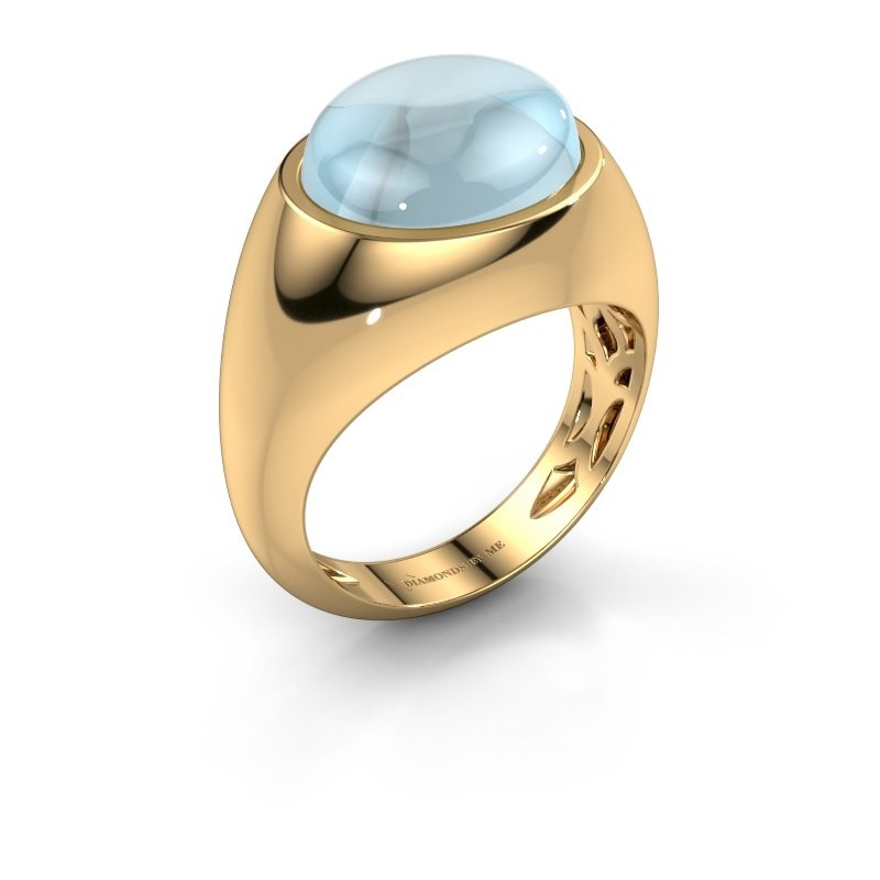 Ring Laurien 585 goud aquamarijn 12x10 mm