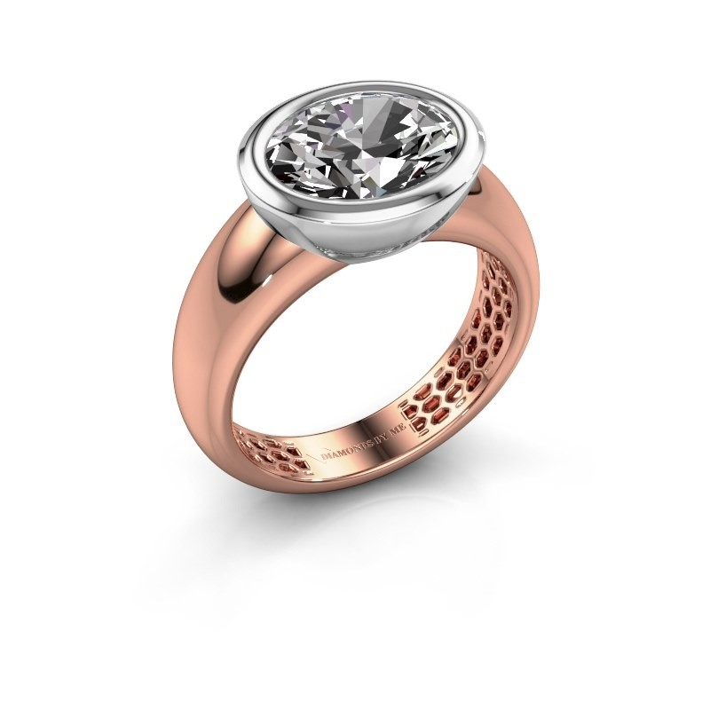 Ring Evelyne 585 rose gold zirconia 10x8 mm