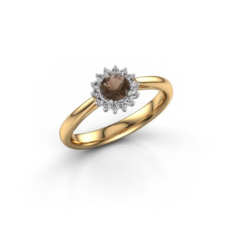 Engagement ring Tilly RND 1 585 gold smokey quartz 4.2 mm