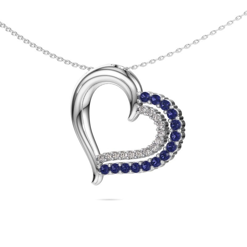 Necklace Kandace 925 silver sapphire 1.9 mm