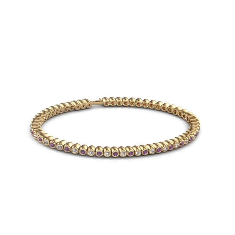 Tennisarmband Trix 375 goud amethist 2 mm