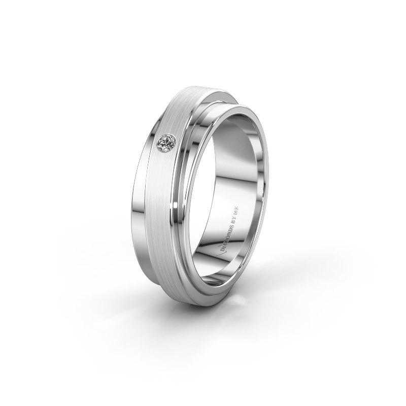 Weddings ring WH2220L16D 585 white gold diamond ±6x2.2 mm