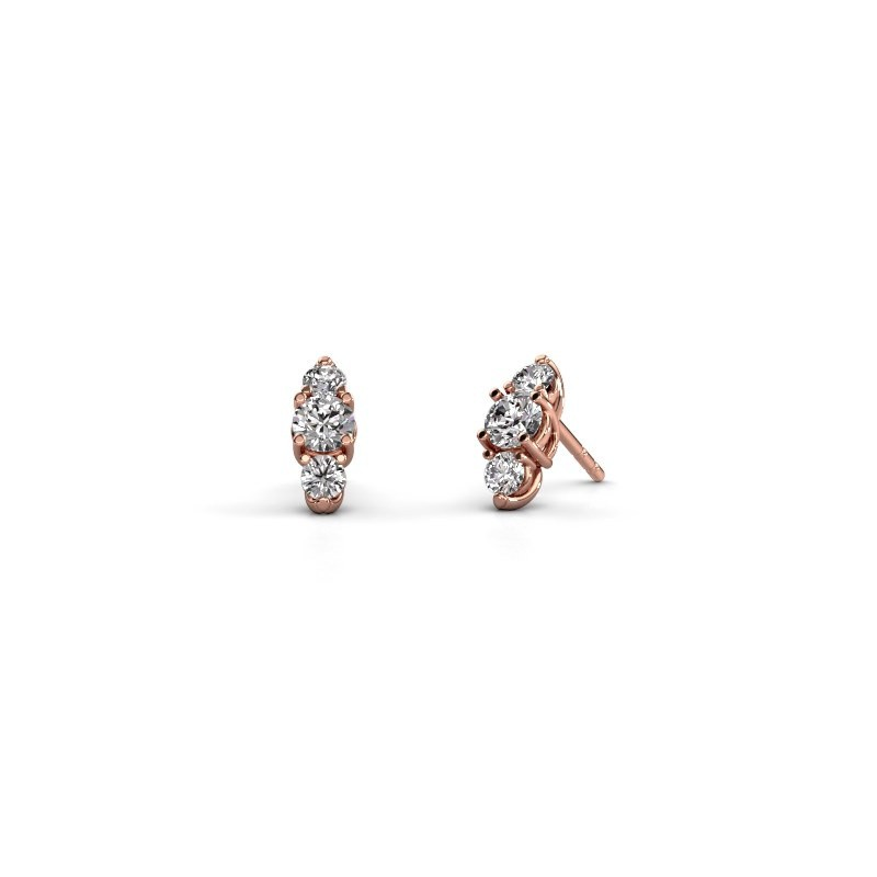 Ohrringe Amie 375 Roségold Diamant 1.00 crt
