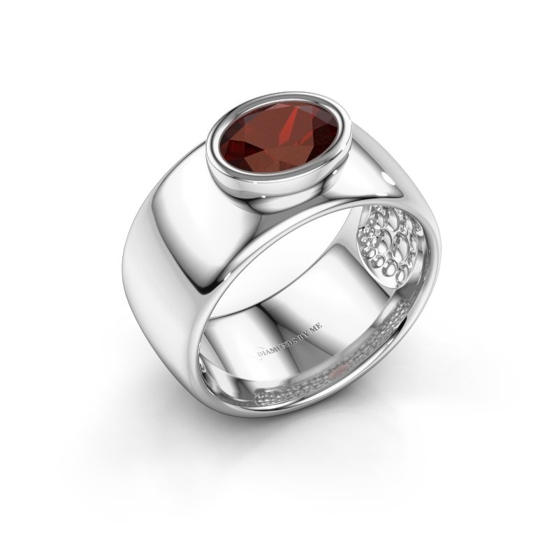 Ring Anouschka 925 zilver granaat 8x6 mm