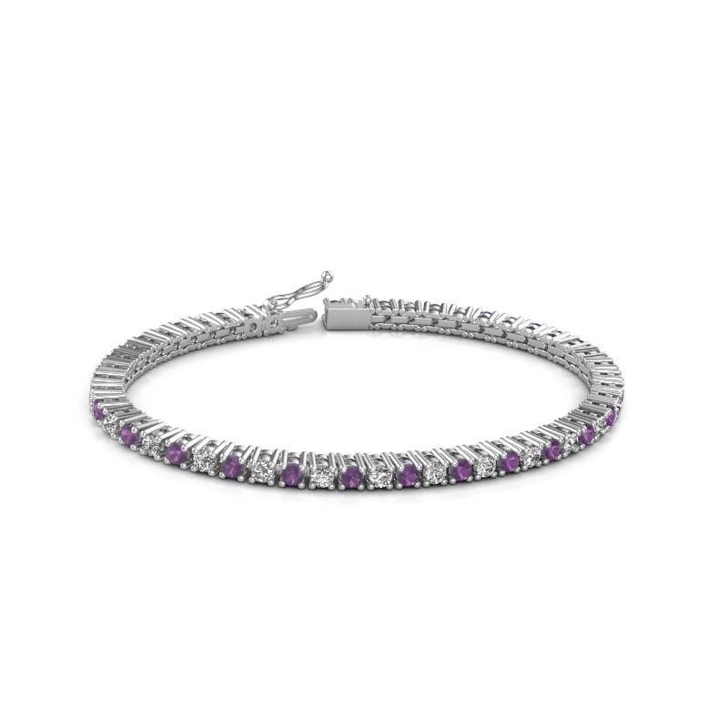 Tennis bracelet Petra 585 white gold amethyst 3 mm