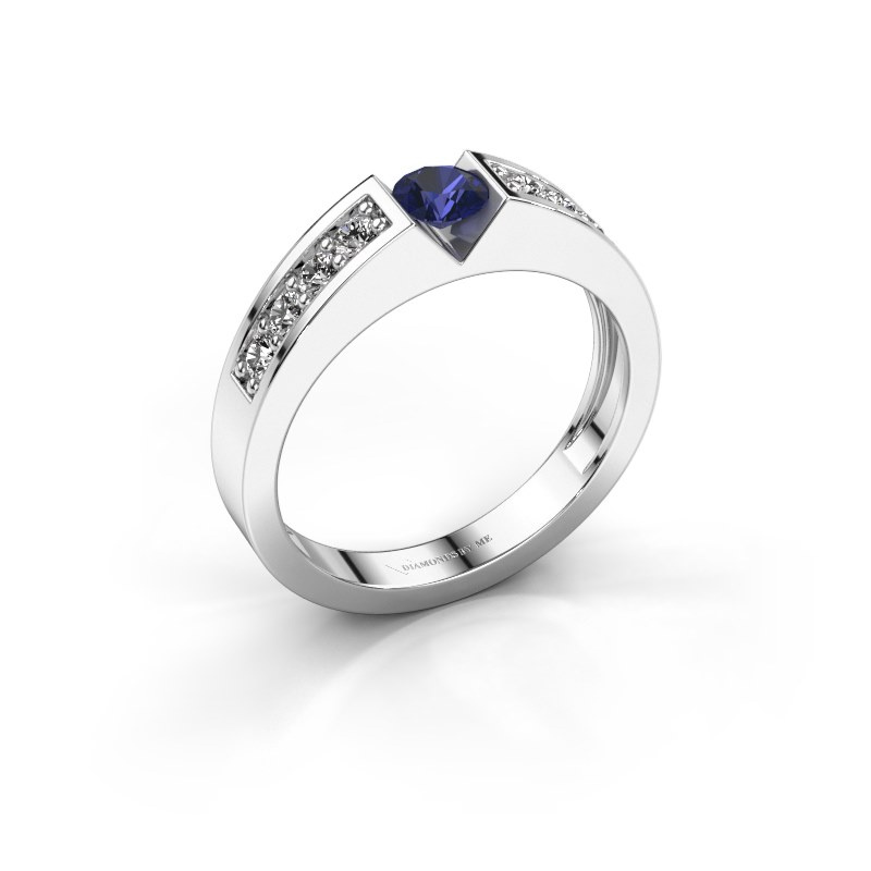 Engagement ring Lizzy 2 925 silver sapphire 4.2 mm