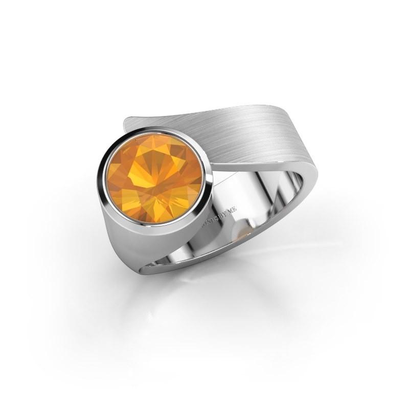 Ring Nakia 925 zilver citrien 8 mm