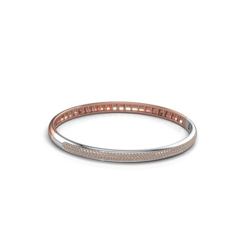 Armband Emely 5mm 585 rosé goud bruine diamant 1.178 crt