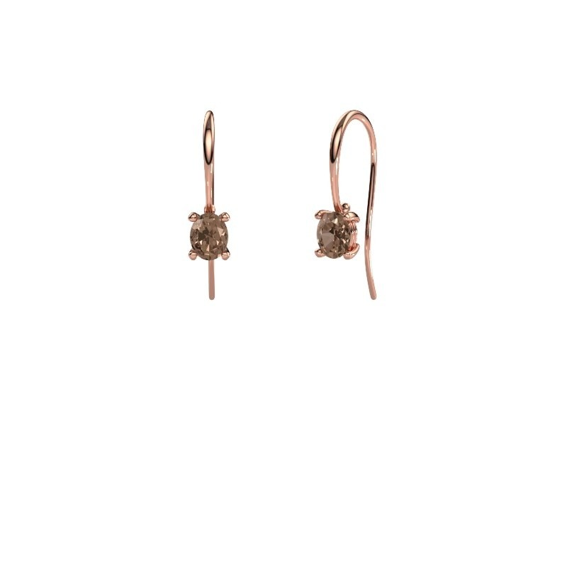Pendants d'oreilles Cleo 375 or rose diamant brun 1.00 crt