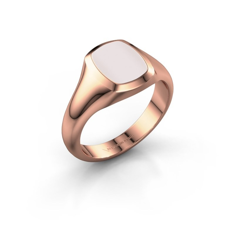 Signet ring Zelda 1 375 rose gold red sardonyx 10x8 mm