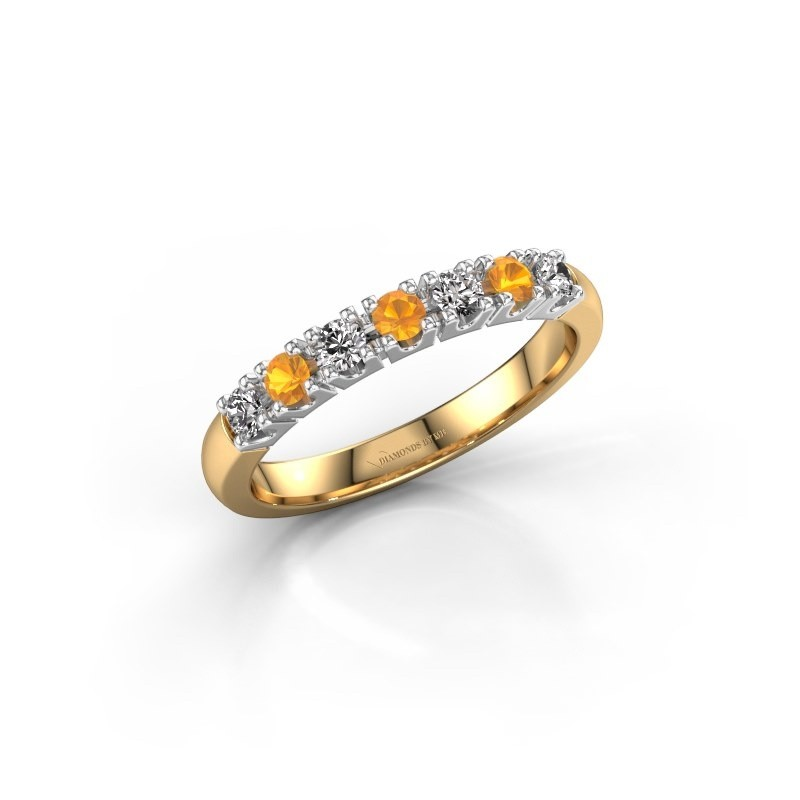 Engagement ring Rianne 7 585 gold citrin 2.4 mm