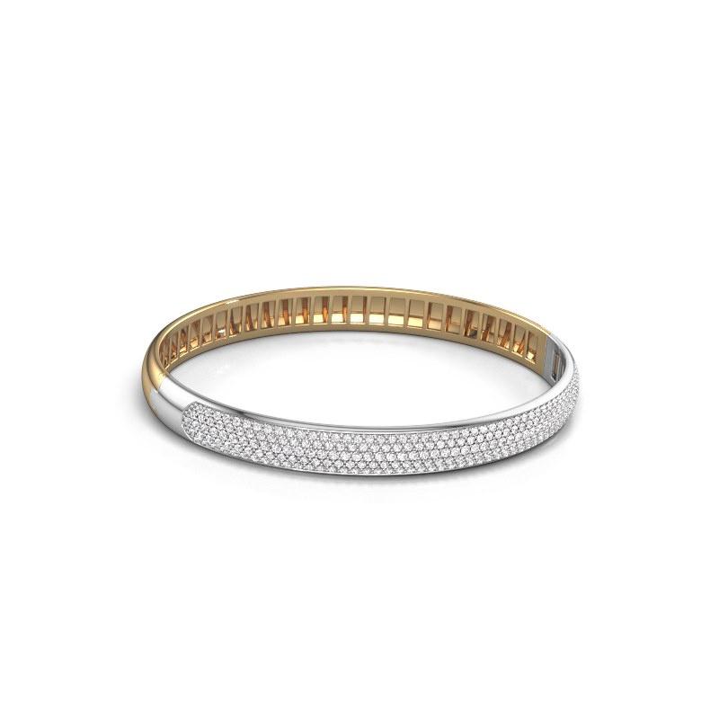 Slavenarmband Emely 7mm 585 goud zirkonia 1.2 mm
