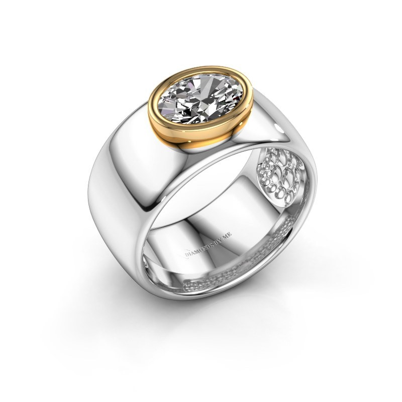 Ring Anouschka 585 witgoud diamant 1.15 crt