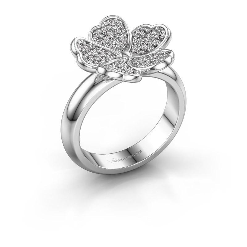 Ring Daphne 585 witgoud diamant 0.450 crt