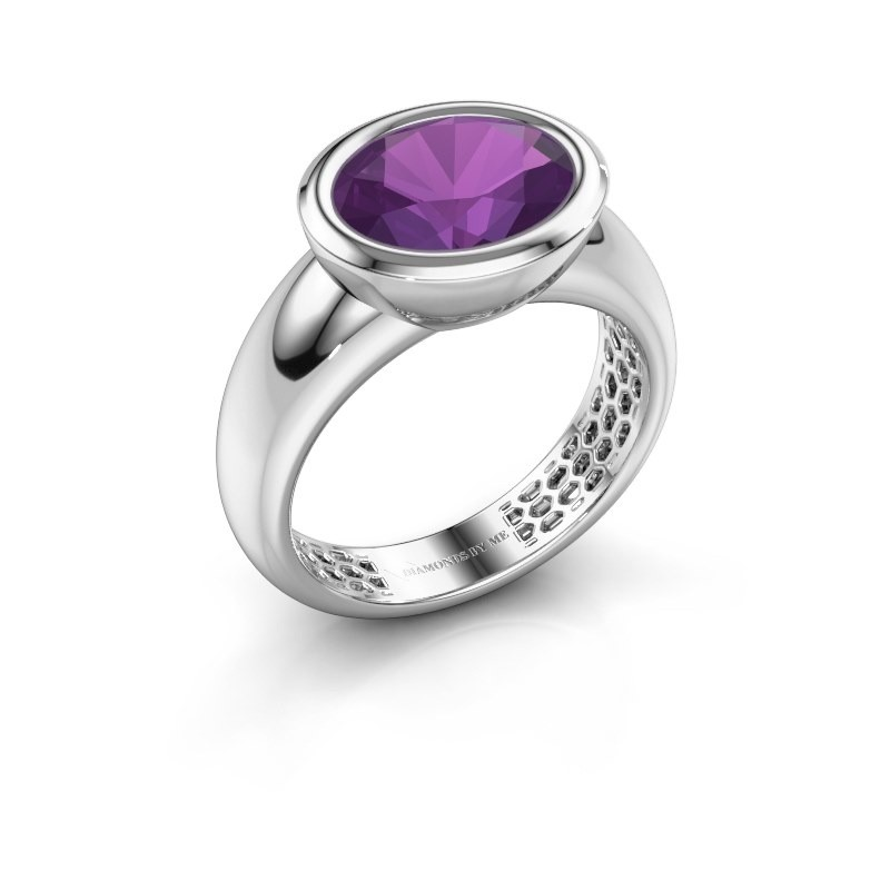 Ring Evelyne 925 silver amethyst 10x8 mm